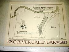 1983 ENO RIVER ASSOCIATION CALENDAR Durham NC Mint SIGNED NR