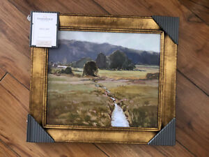 Studio McGee Threshold 14x16 Framed Landscape Wall Art Canvas Painting Target