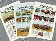 1977-80 Chevrolet CAPRICE Station Wagon adverts x3, 3 CHEVY Caprice Classic ads