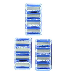 12 PACK 5 Blade Mens Razor Shaving Refills Blades Cartridges for Gillette Fusion