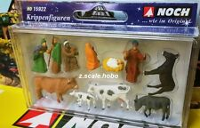 Noch HO 15922 Nativity Manger Baby Jesus Christmas Figures Set *NEW $0 SHIP