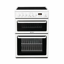 Hotpoint HAE60PS Standing 60cm Double Cavity Electric Cooker - White