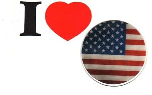 WOWPad Silicon Non-Slip Sticker Pad US Flag I love USA for iPhone, Andriod, Cups