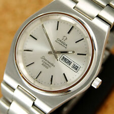Authentic Omega Seamaster Cosmic 2000 Day Date Silver Dial Automatic Mens Watch