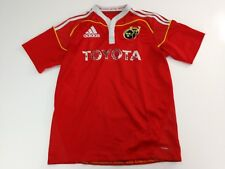 Munster Rugby Ireland Adidas Toyota mens medium Rugby Shirt Jersey Red
