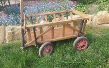 kleiner alter Handwagen Leiterwagen Bollerwagen  Shabby Landhaus Bauernhaus 998R