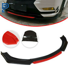 Front Bumper Lip Spoiler Splitter Protector Red 2 Layer Lip Matte Universal Car Fits More Than One Vehicle