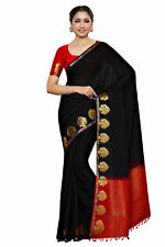 Mimosa Kupinda Embellished Fashion Crepe Saree Black Color Sari