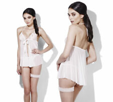 Fever Bridal Outfit Ladies Sexy Underwear Fancy Dress Costume XS-L