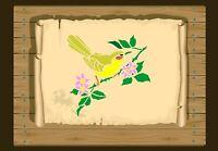 Little Song Bird on a Branch Stencil 350 micron Mylar not thin stuff #Bird036