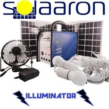 Portable Solar Lighting System & Power Bank w/Fan/Radio/MP3