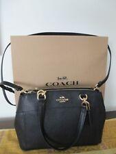 Coach Women's Black Cross Stitch Tote Handbag