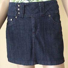 EDC by Esprit Blue Stretch Denim Jean Studded Mini Skirt size 2