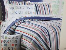 New Max Studio Kids Standard Sham 21x27 - Red, Blue, Green, Grey & White Stripes