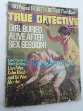 Vintage Magazine True Detective January 1972 [NO REAR COVER] Buried Alive After
