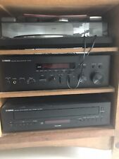 Yamaha stereo system, speakers, CD, record player