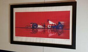 Ed Golden 2005 lithograph of  Michael Schumacher 2003 WC Ferrai.signed & number.