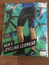 Men's Cycling Shorts Size XL 46/48 Brand New In Pack Black Crivit Sports