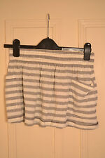 BNWT SoulCal Summer Skirt Grey/White Strip Size 10