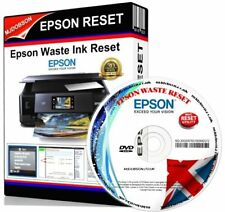 More details for epson xp600, xp605, xp700,xp750,xp850 waste ink pad saturated error reset cd new