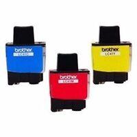 Genuine OEM Brother LC41 Ink Cartridges (1 Cyan, 1 Magenta, 1 Yellow)