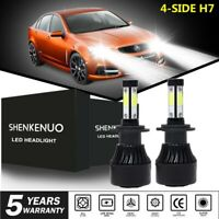 4-Sides H7 LED Headlight Bulbs 6500K for Holden VF Commodore Low Beam SS SSV HSV