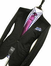 BNWT MENS HUGO BOSS ITALIAN TAILOR-MADE MIXED MATCHED BLACK SLIM SUIT 38R W32