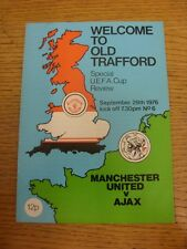 29/09/1976 Manchester United v Ajax [UEFA Cup] (Token Removed). Unless previousl