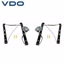 For BMW E46 325xi Pair Set of 2 Front Power Window Regulators w/o Motor VDO