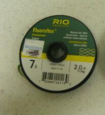 Rio Fluoroflex Fluorocarbon FRESHWATER Tippet 30 yd. Spool - 7X Fly Fishing 2 LB