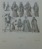 20 Antique Prints Racinet Greece Syria Italy Historical Costumes Didot 1888