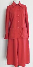 Vtg Givenchy Sport Skirt Suit Size S/M Terracotta 6 Button A-Line