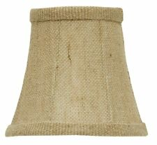 Burlap 4 Inch Chandelier Mini Lamp Shade English Barrel Drum