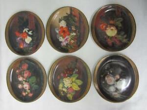 Set of Six (6) Johan Laurentz Jensen Floral Collectors Plates