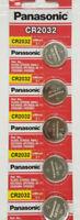 5 x Fresh PANASONIC CR2032 2032 3V Lithium Coin Battery Expiration date 2028