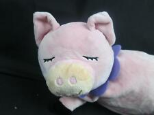 MANHATTAN TORY PINK PIGGY PIG EYES CLOSED PURPLE FLOWER DAISY COLLAR PLUSH STUFF