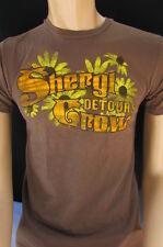 Alternative Men Brown Organic T-shirt Fashion Crewneck Short Sleeves Top Small