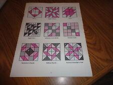 Plastic Templates - 171 quilt blocks - 16 inch blocks