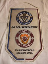 DDR Sport Fußball Oberliga Wimpel CUP Landesmeister BFC Dynamo Bordeaux FC 1987