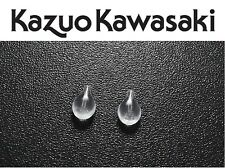 Kazuo Kawasaki x(2) Pairs Nose Pads Silicone Plug-In Tear Shaped New Replacement