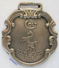 Colt firearms gun silver plated watch fob