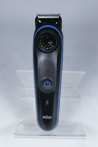 Genuine Braun BT3040 Beard Trimmer for Men Cordless Hair Clipper Black/Blue