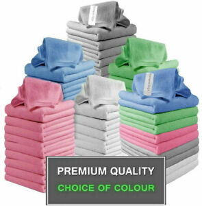 Large Microfibre Cloths - Packs of 5/10/20/40/60 - Kitchen and Car Cleaning
