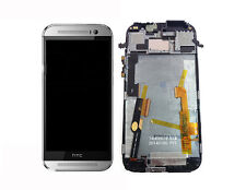 Original HTC One M8 LCD Display Touchscreen Digitizer Touch mit Rahmen Silber