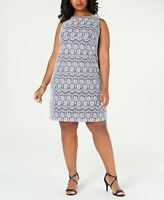 Jessica Howard Plus Size Sleeveless Lace Shift Dress $89 Size 22W # 11NB 345 NEW