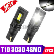 2X T10 LED 3030 4SMD Bulb White W5W 168 194 Super Bright Car Wedge Side Light JO