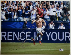 ZLATAN IBRAHIMOVIC Signed 11x14 Sexy Shirtless LA Galaxy Photo A C Milan PSA/DNA