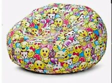 Justice Girls Inflatable Beanbag Chair SLIP Unicorn COVER ONLY Emoji Smiley Soft