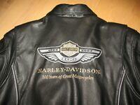 Original Harley-Damenlederjacke 100 Jahres-Edition Gr. 38/40 L W - neuwertig!!