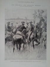 1896 PRINT MR CECIL RHODES AND COLONEL NAPIER SHAKING HANDS by R CATON WOODVILLE